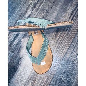 Mad Love Fringe Sandals